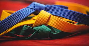 Industryweek 35944 Blue Yellow Green Karate Belts 1620