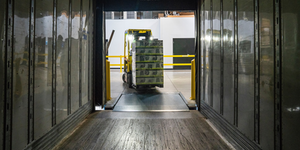 Forklift In Truck Yellow With Load Dark Supply Chain Photo By Elevate On Unsplash
