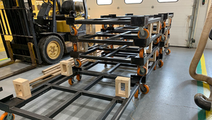 Falcon Industries, the student-run shop at Winchester Community High School in Indiana, is ready to ship an order.