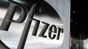 Pfizer Logo Spencer Platt Getty