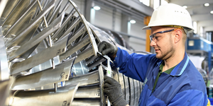 Industrial Worker Assembling A Turbine © Industryviews Dreamstime