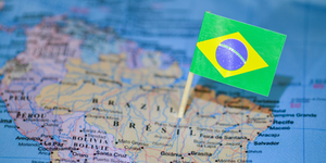 Brazil With Flag In It South America Brazil Portuguese Vrezh Gyozalyan Dreamstime