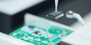 Microchip Semiconductor Manufacturing Automatic Machine Motherboard Assembly © Dmitry Kalinovsky Dreamstime