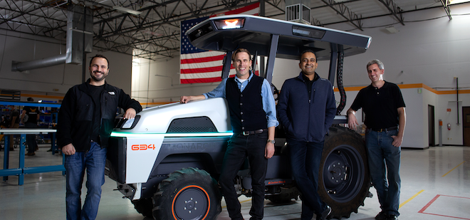 Mark Schwager, president and co-founder, Carlo Mondavi, chief farming office and co-founder, Praveen Penmetsa, CEO and co-founder, and Dr. Zachary Omohundro, chief technology office and co-founder.