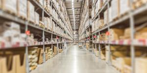 Warehouse Generic Lane Focus Warehouse Storage Supply Chain Logistics Shipping © Korn Vitthayanukarun Dreamstime