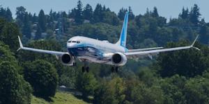 Boeing 737 10 First Test Flight Landing In Seattle Boeing Co