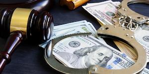 Gavel Money Handcuffs Sentencing Corruption Crime Court Justice Law Legal Arrest © Designer491 Dreamstime