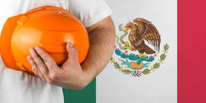 Mexican Flag Labor Helmet Worker Employee Mexico © Akeksandr Berdyugin Dreamstime