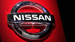 Nissan Logo On Red Harold Cunningham Getty Images