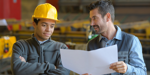 Workers And Manager At Factory Payroll Jobs Management © Auremar Dreamstime