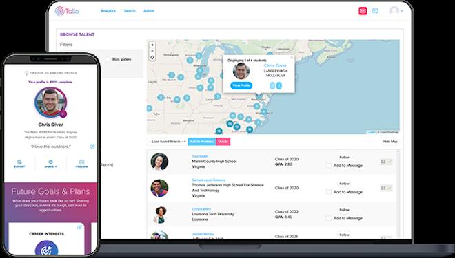 Tallo For Companies Header Image Search Profile