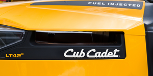 Club Cadet Yellow Bright Riding Lawn Mower Tractor© Ken Wolter Dreamstime