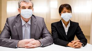 Business People In Masks Pressmaster 60631f5ac2325
