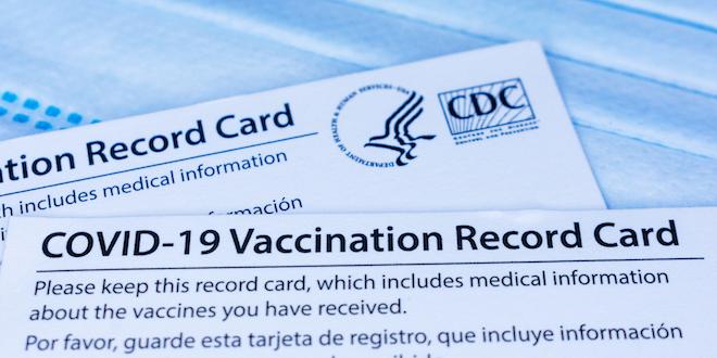Covid 19 Vaccination Card Proof Vaccine Cdc Card Coronavirus © Michael Vi Dreamstime