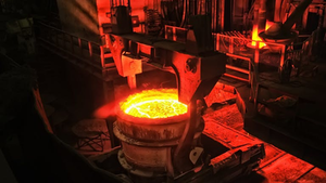 Metallurgical Plant Industrial Production Process Metals Glowing Maximilian Pogonii Dreamstime 6142496321859