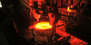 Metallurgical Plant Industrial Production Process Metals Glowing © Maximilian Pogonii Dreamstime