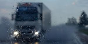 Truck In The Rain Storm Supply Concept Image © Smiltena Dreamstime