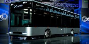 Foxconn Electric Bus E Bus鴻海電動巴士,以智能運輸作為定位的model T是一款智能風尚的都會運輸巴士,其高剛性車體防護設計,擁有良好車體防護 1634546022