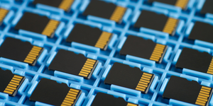 Microsd Memory Cards Computer Chips Memory Storage Tech In Tray © Hopsalka Dreamstime