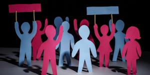 Strike Concept Paper People Cutout Signs Labor Union Talent © Oleksii Donenko Dreamstime